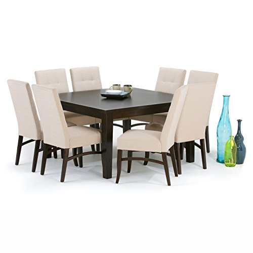 Simpli home eastwood square dining table 54 x 54 java for Dining room table 54 x 54