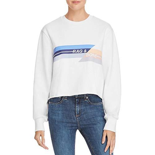 (Rag & Bone/JEAN Women's Glitch Sweatshirt, White, Small)