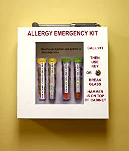 EpiNOW Allergy Emergency Kit - School Lunch Room Epinephrine Cabinet