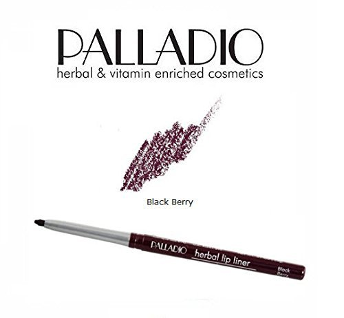 - 2 Pack Palladio Beauty Retractable Lip Liner 09 Black Berry