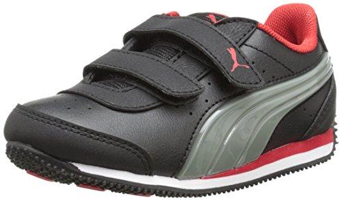 V Kids-K, Black/Limestone Gray/High Risk Red, 5 M US Toddler ()