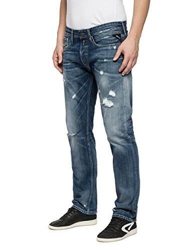 blue Replay Uomo 849 Blu Newbill Jeans 9 Denim Dritto Fxqfxz1PwA
