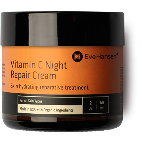 Vitamin C Skin Cream - Eve Hansen Vitamin C Night Cream | Anti Aging Face Cream, Neck Cream, Vitamin C Cream, Vitamin E Cream | Natural Face Moisturizer for Acne Scar Removal, Dark Circles and Wrinkle Filler Skin Cream 2 oz