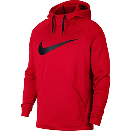 - Nike Mens Therma Swoosh Essential Pull Over Hoodie University Red/Black 931991-657 Size Large