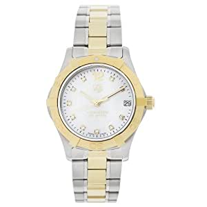 """TAG Heuer Women's WAF1320.BB0820 """"Aquaracer"""" Stainless Steel, 18k Gold, and Diamond Watch"""