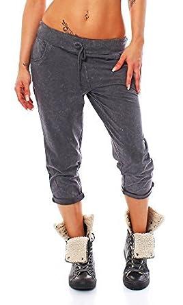 Moda Italy Trendy – Pantalones deportivos para mujer Capri ...