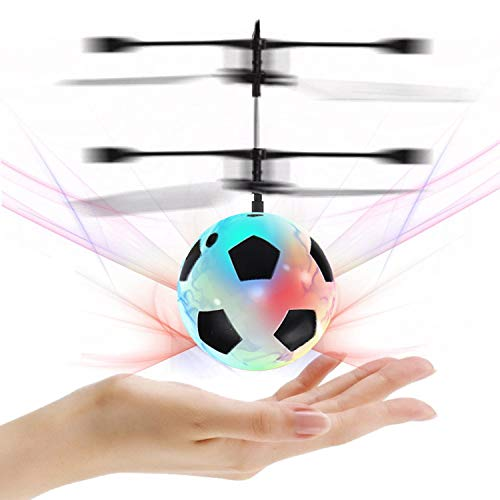 Flying Ball, Kids Toys Hand Control Helicopter Mini Infrared Induction Drone Magic RC Flying Light Up Toys Indoor and Outdoor Games Fun Gadgets for Boys Girls Kids Teenagers]()