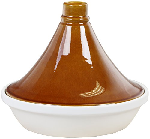 Eurita by Reston Lloyd Porcelain Flame Proof Tagine, 2.5 Quart, Tan