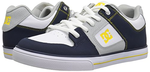 Pictures of DC Pure Elastic Skate Shoe Navy/Grey ADBS300348 Navy, Grey 4