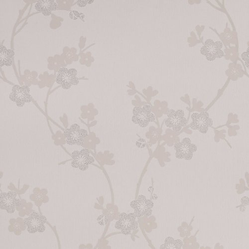 Graham & Brown Cherry Blossom Wallpaper, White (Wallpaper Cherry)