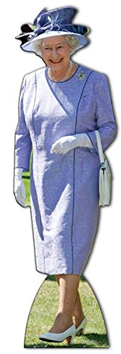 Queen Elizabeth Lilac Dress Lifesize Standup Cardboard Cutouts 70 x 23in (Queen Elizabeth Photo)