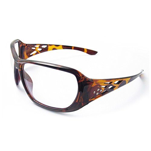 ERB Safety Products 17956 Rose Tortoise Shell Frame, Clear Lens, One Size, - Fashion Safety Glasses
