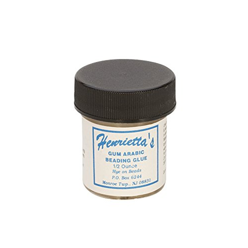 1/2 oz Henrietta's Gum Arabic Water Soluble Knot Needle Threading Sealing Beading Tool by PMC Supplies LLC