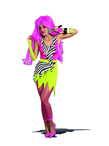 Glam Rock Costumes For Womens (Dreamgirl Women's 80's Punk Glam Gem Jagged Rock Star DIY Costume, Multi, X-Large)