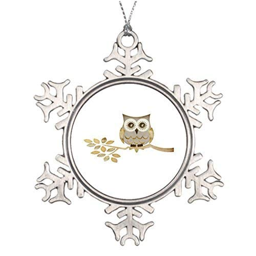 Monroe Valentine Ideas for Decorating Christmas Trees Wide Eyes Owl in Tree Western Christmas Snowflake Ornaments Tree Decor