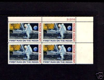 US -1969- SPACE - MOON LANDING - #C76 MINT PLATE BLOCK!
