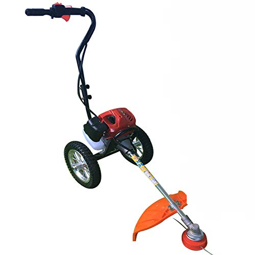 TFCFL 3 in1 Hand Push Wheeled Brush Cutter Trimmer 2 Stroke Air Cooled Engine Garden ()