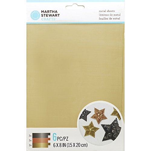 Martha Stewart Crafts 45-20000 Metal Working Metallic Sheets