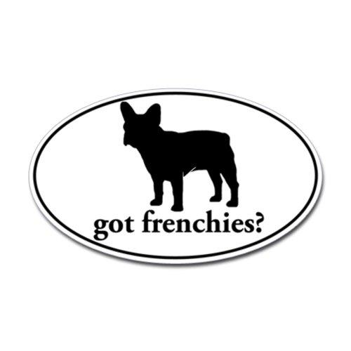 CafePress got frenchies? Oval Sticker Sticker Oval - 3x5 White