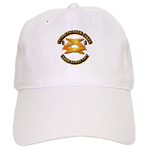 CafePress - Navy - Civil Engineer Corps Cap - Baseball Cap with Adjustable Closure, Unique Printed Baseball Hat
