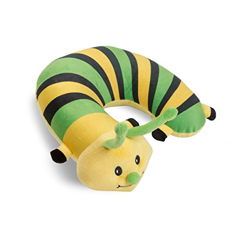 Machine Neck (Critter Piller Kid's Travel Buddy and Comfort Pillow, Yellow Caterpillar, Hypoallergenic, Machine Washable, Recycled Filling)