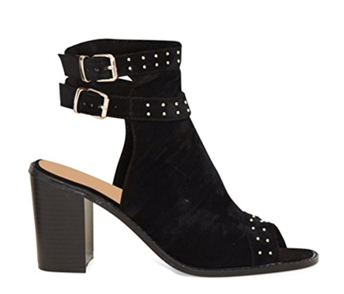 Heel Peep Ankle Shoes Definitely Block Zip Cut Boots You Mid Size Toe Ladies High Womens Stud Sandals Out aqBw8HqY