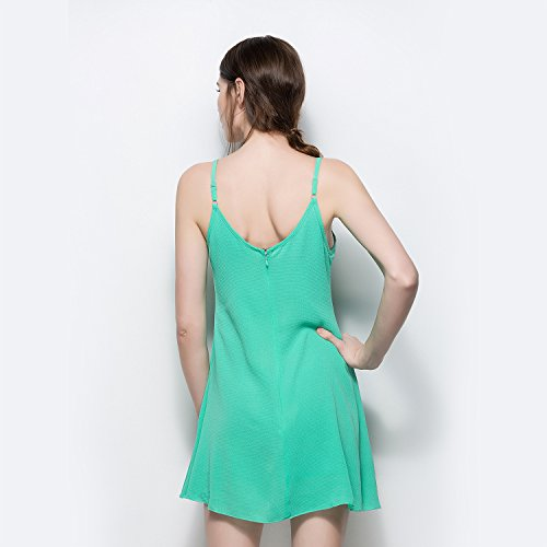 Summer The Dress Green Shoulder Woman's Strapless Fashion Beach Dress Off SYGoodBUY Sexy Flooring Short q4SFZ1xnwH