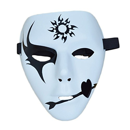 Vivian Halloween Party Hip-Hop Dance Mask Hand-Painted Christmas Masquerade Mask (Style (Ghost Dancers Costumes)