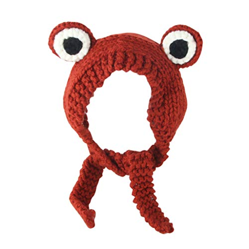 Loom Bands Halloween Ghost (Armfre Tops Kids Head Warmers Band Frog Shape Cable Knit Skully Beanie Soft Stretch Adorable Trendy Hat Headwrap Halloween Christmas Boys Girls Best)