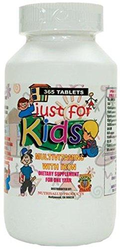 Vitaminas para niños Just for Kids. Suplemento para todo un año.Vitaminas y Minerales