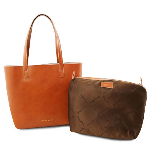Tuscany Leather Ilaria - Bolso en piel con compartimento extraible - TL141612 (Rojo) Rojo
