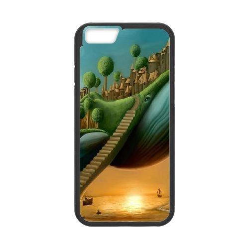 Surreal Stairways L coque iPhone 6 Plus 5.5 Inch cellulaire cas coque de téléphone cas téléphone cellulaire noir couvercle EEECBCAAN07330