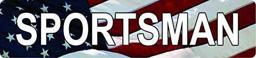 (Any and All Graphics Sportsman Waving American Flag Patriotic 4