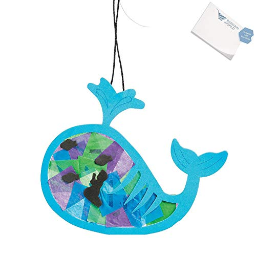 Bargain World Tissue Paper Jonah & the Whale Ornament Craft Kit (With Sticky Notes) ()