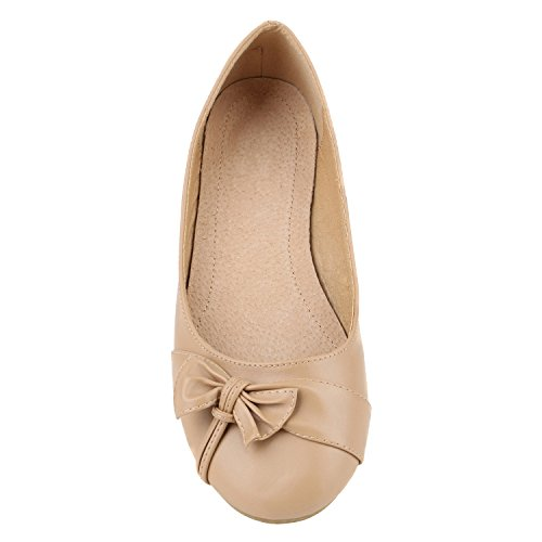 Klassische Damen Ballerinas Ballerina Schuhe Gummizug Basic