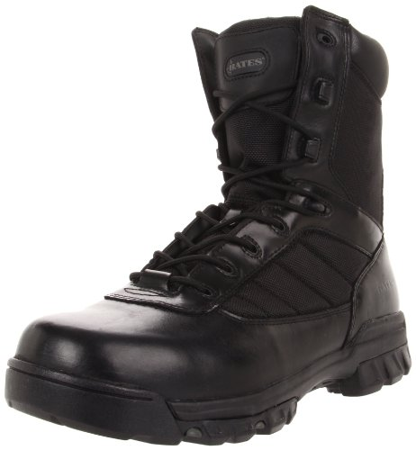 Bates Men's Ultra-Lites 8 Inches Tactical Sport Side Zip Work Boot,Black,8 EW US