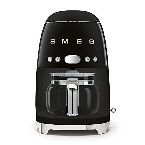SMEG 1950's Retro Style Coffee Maker Machine (Black)