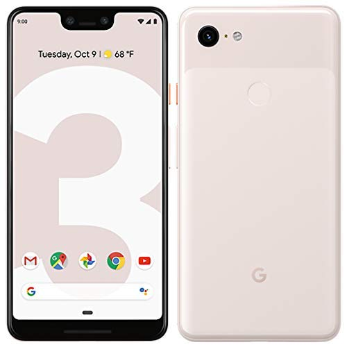 """Google Pixel 3 XL (2018) G013C 64GB - 6.3"""" inch - Android 9 Pie - (GSM Only, No CDMA) Factory Unlocked 4G/LTE Smartphone - International Version (Not Pink)"""