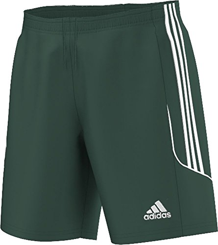 (adidas Men's Squadra 13 Shorts - Green/White, 2XLarge)