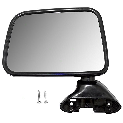 Drivers Manual Side View Mirror Door Skin Mounted Replacement for Toyota Pickup Truck with Vent Window (Mirror Door Drivers Manual Mounted)