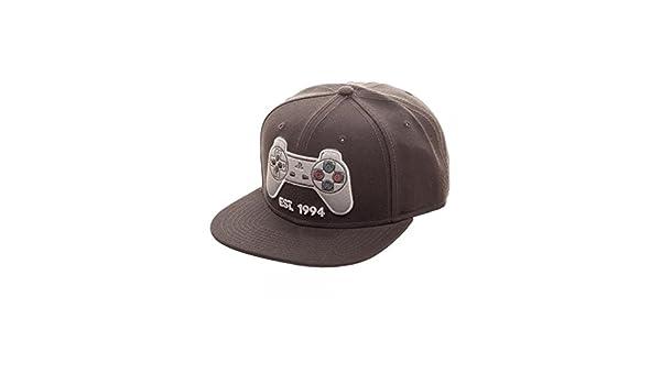 buy online 95f33 8c0da Amazon.com  Superheroes Brand Sony Playstation Controller Snapback Hat Cap   Clothing