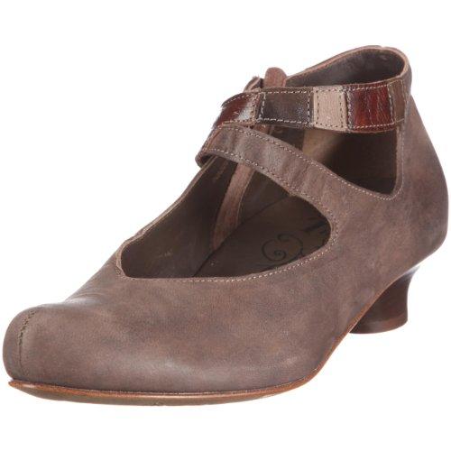 Think Schee 6-86279-13 - Zapatos de vestir de cuero para mujer Marrón