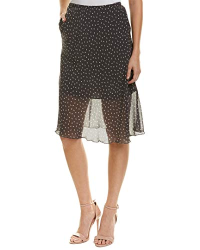 Gold Hawk Womens Printed Silk Skirt, S, Grey