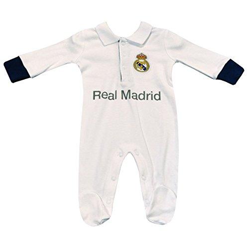 Real Madrid CF - Pelele para dormir - para bebé niño blanco blanco Talla única