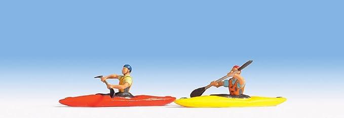 Noch - 37809 - Modélisme Ferroviaire - Kayaks Avec Figurine - Non Flottable