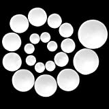 Techinal 6pcs Modelling Polystyrene Styrofoam Foam Ball Set DIY Craft Ball Including 20mm+30mm+40mm+50mm+60mm+80mm