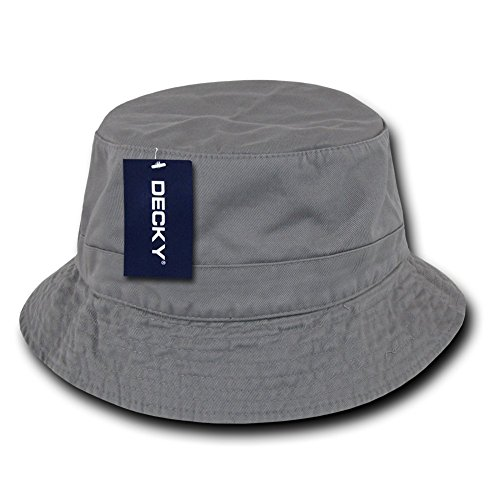 - DECKY Polo Bucket Hat, Grey, S_M