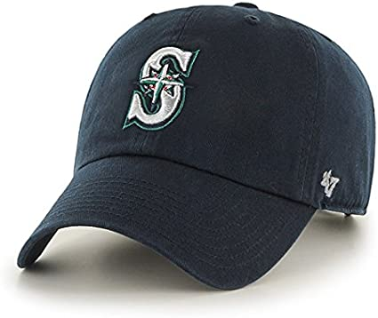 47 Brand Seattle Mariners Logo Clean-Up Adjustable Hat