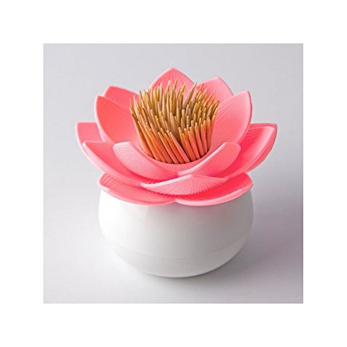 Lotus Toothpick Holder (Pink-White) by Qualy