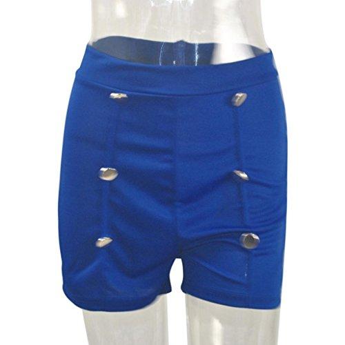 Taille Pantalon solide Femmes Bouton chaud haute WINWINTOM et 2018 Fermeture Bleu clair zqEXnwp